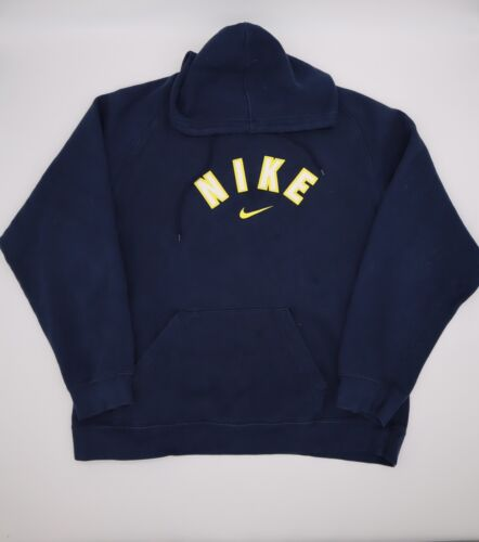 Vintage Nike Spell Out Pullover Hoodie Center Swoo