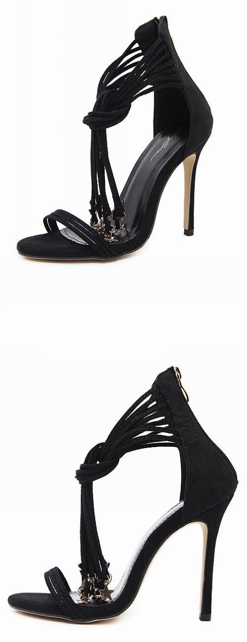 Sandali lacci 11 cm eleganti stiletto fashion perle simil simil simil pelle comode 9246 84d1bb