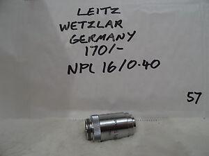 Leitz  WETZLAR GERMANY NPL  16/0.40 170/-  Microscope Objective Lens