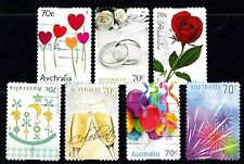 Australia  2014 Special Occasions Set of Stamps 0.7 cents P Used S/A Variety