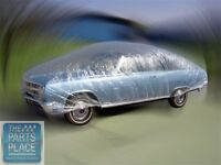 24 Ft Clear Reusable Car Cover / Dust Cover / Rain Cover For Car Show / Garage