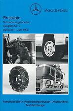 Preisliste Mercedes LKW Zubehör Nr. 5 1.6.92 1992 price list truck accessories
