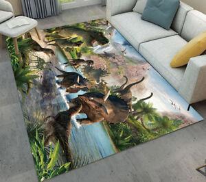 Details about Wild Safari Dinosaurs Jungle Area Rugs Living Room Floor Door  Mat Bedroom Carpet