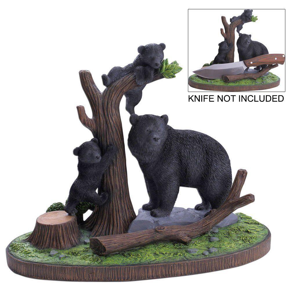 MC Messerständer Messerhalter für für für Messer Deko Statue als Bär oder Reh Ständer 3eec2d