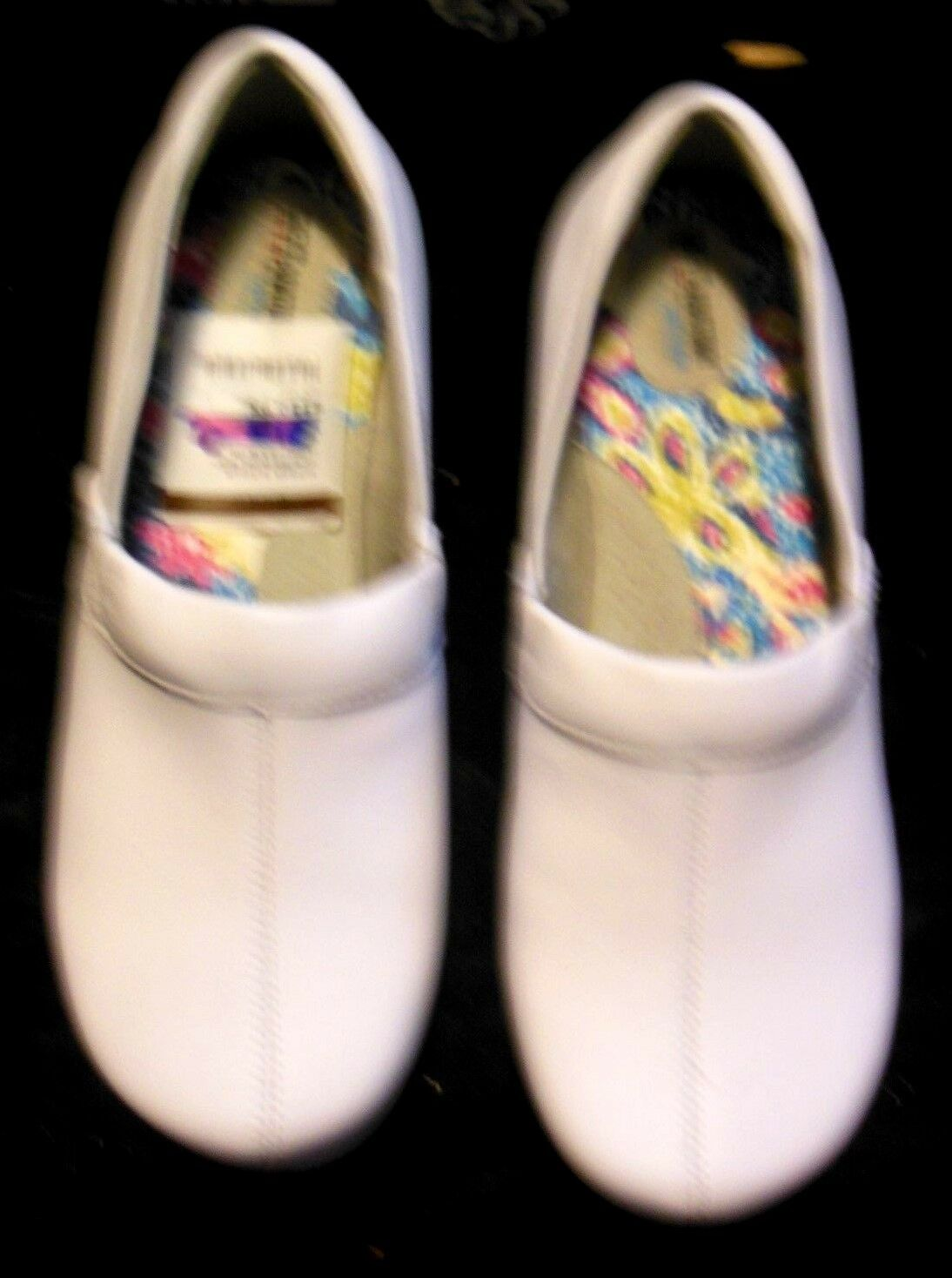 NEW SoftWalk Meredith White Box Leather Padded Clog SZ 9.5 WIDE Wms MSRP