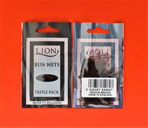 Very Fine 6 x Bun Nets Ballet // Dance One Size Lion Medium Brown 2 x 3 pack