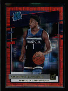 ANTHONY EDWARDS 2020/21 DONRUSS #201 RATED ROOKIE INFINITE RED RC #56/99 FC8152