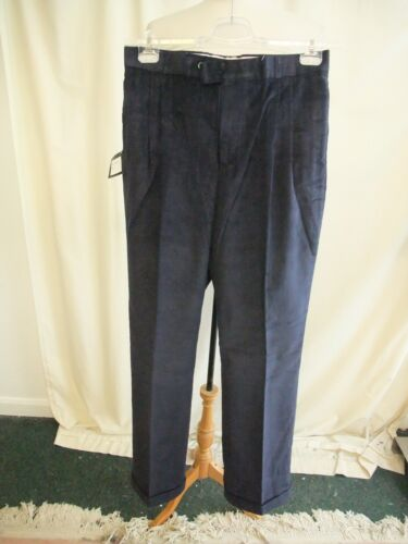 """new 0201 inside leg 34/"""" Mens Trousers Redfern /& Jones navy blue corduroy W32"""