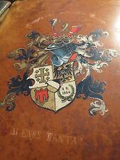 Tübingen - Wingolf - Leeres Album mit Wappen - WS 1907/1908 / Studentika
