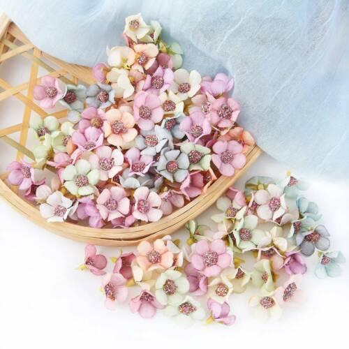100Pcs Artificial Silk Mini Daisy Flower Heads Multicolor DIY Headdress Garland