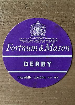 Antique Packaging Label Fortnum /& Mason Cheese Paper Graphics Vintage Derby