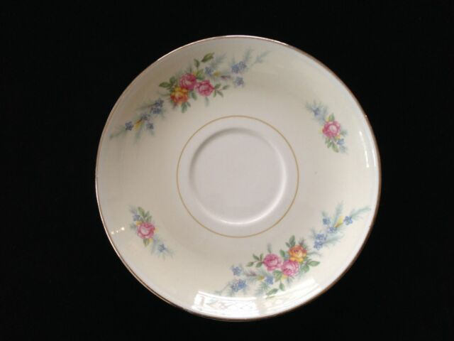 Homer Laughlin China FERNDALE N1577 Eggshell Nautilus, TEA CUP SAUCER