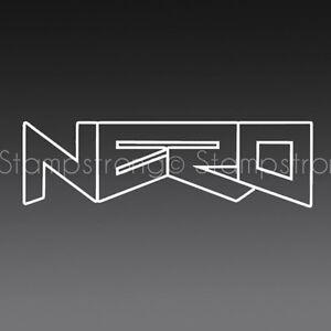 6 Inch Nero Vinyl Decal Sticker Die Cut Rave Dubstep Dub