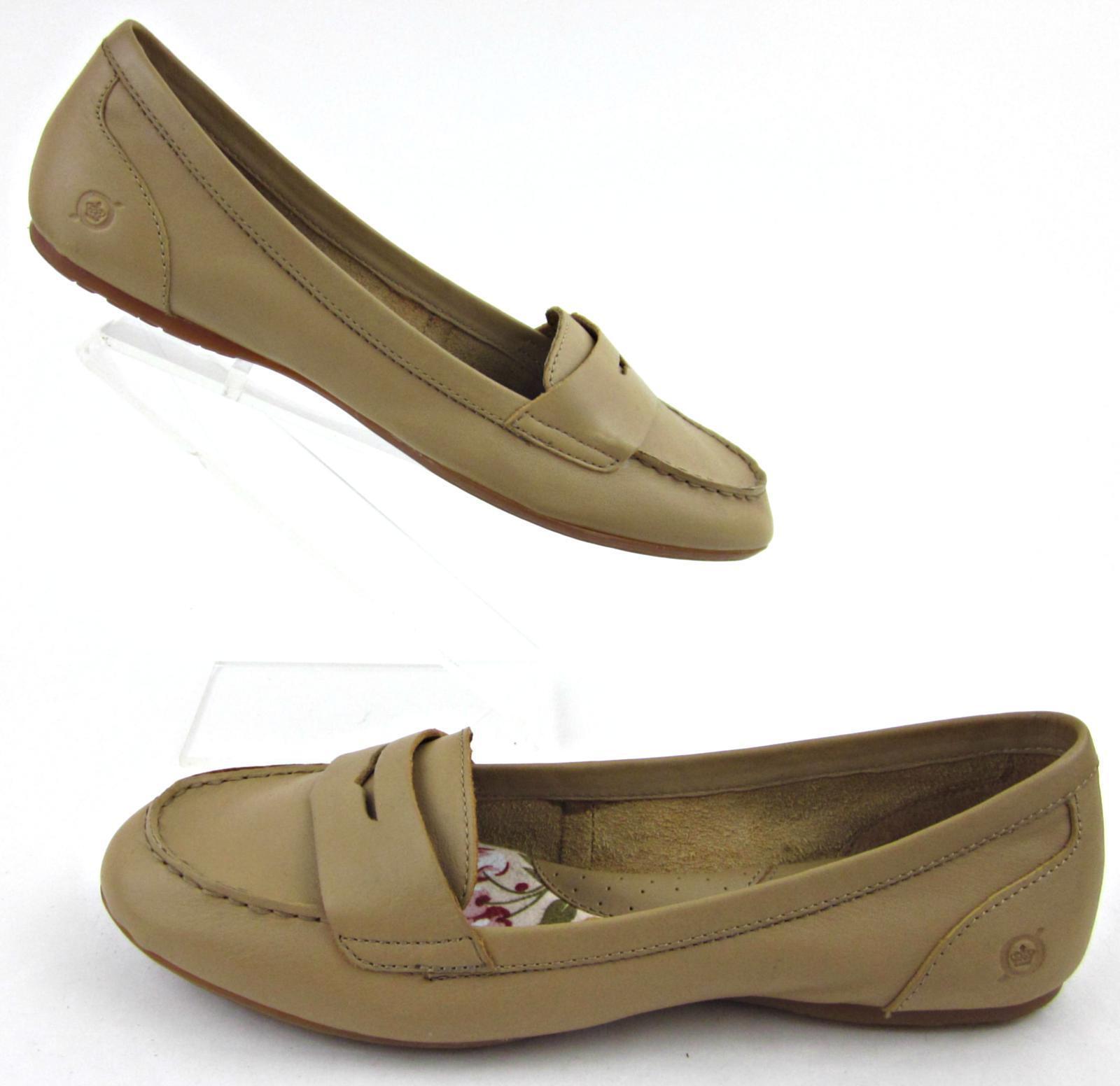 *NEW!* Born Ballet Flat Style Penny Loafers Tan Sz Leather Sz Tan US 11 395511