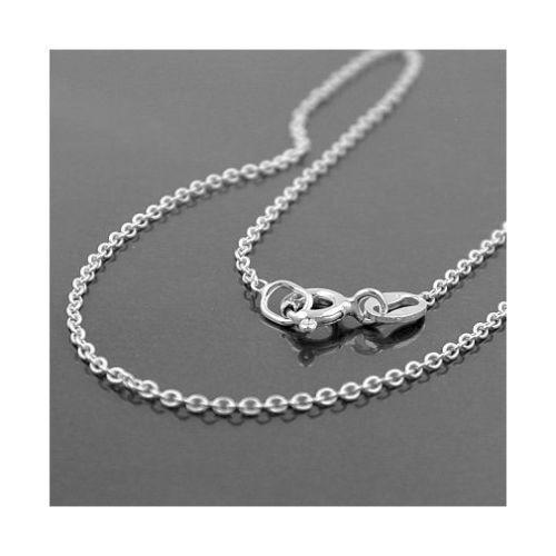 Schutz Engel Taufring mit weißem Zirkonia mit 38 cm Anker Kette Echt Silber 925