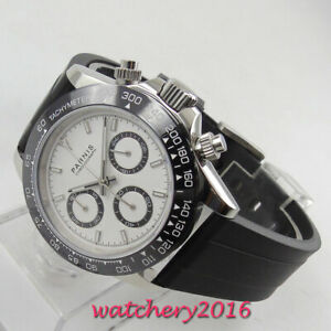 39mm-PARNIS-Military-Herren-Chronograph-Saphirglas-gebuerstet-Case-Quarzuhr