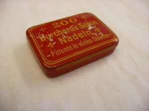Phonograph Victrola Gramophone - Needle Tin - Burchard's Salon - Empty