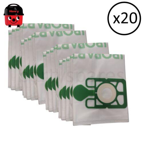 20 sacchetti di grande capacità /& Deodoranti Per Henry Hetty Vac Per Aspirapolvere