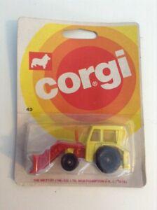 CORGI-JUNIORS-TRACTOR-WITH-ANGLEDOZER-No-43-1973-NEW-SEALED