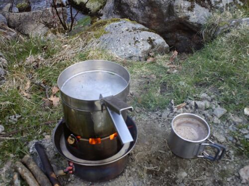 1.2 Liter Kelly Kettle /& Kits Stainless Steel SCOUT Camping Stove /& Kettle