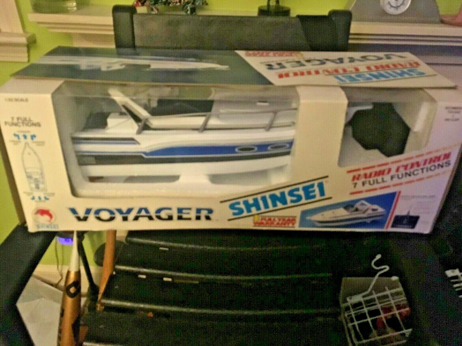 Vintage Shinsei Voyager RC Barco Radio Elecon 1 25 Nuevo Caja Original
