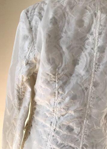 Lace Jacket Size Gennemsigtig Blazer Rain 8 Nwt Hvid Add 340 Coat SqxgCfn