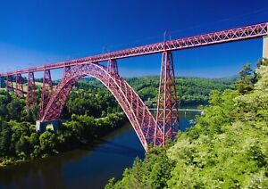 A1-Garabit-Viaduct-Poster-Art-Print-60-x-90cm-180gsm-France-Bridge-Gift-12542