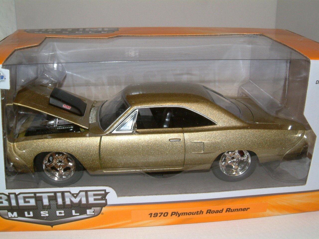 1 24 1970 Plymouth Road Road Road Runner en oro metálico, Jada, 7dd9a1