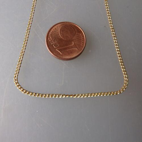 Feine stabile Rundankerkette Gold Double 1,5 mm 42 cm - ungetragen (48785)