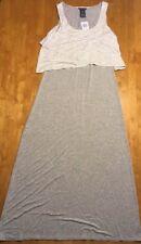 Chelsea Theodore Womens Sleeveless Maxi Dress Medium Mist Grey H