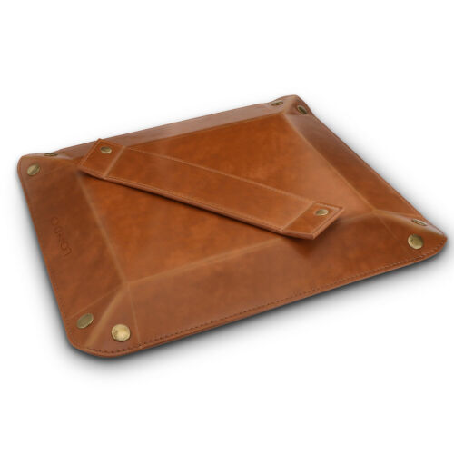 Leather Tray Organizer for Wallets Watches Keys Office Stuff Phones Londo