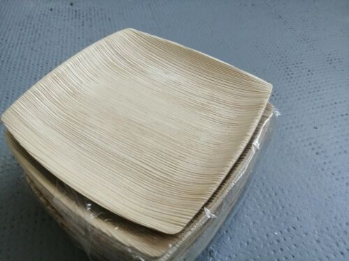 100 Stück Palmblatt Teller Holzoptik Bio Einweg Partyzubehör 4x25 /& 8x25 Stück