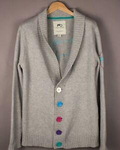 MOODS-OF-NORWAY-Men-Lambwool-Nylon-Cardigan-Sweater-Jumper-Size-L-ATZ425