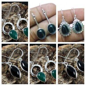 Black-Onyx-925-Sterling-Silver-Women-Earrings-Designer-Jewelry-Mothers-Day-Gift