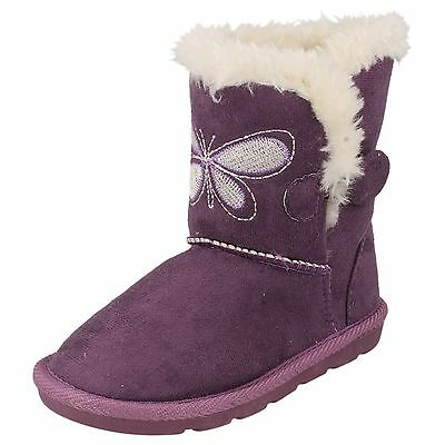Spot ON H4099 Girls Microfiber Butterfly Boots