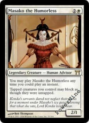 4 PLAYED Masako the Humorless White Champions of Kamigawa Mtg Magic Rare 4x x4