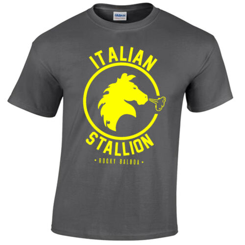 ITALIAN STALLION MENS T SHIRT ROCKY BALBOA BOXING GYM TRAINING TOP FANCY DRESS