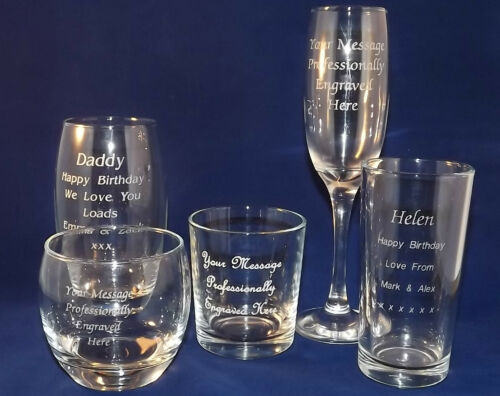 PERSONALISED CHAMPAGNE FLUTE ESTABLISHED 1989 30TH BIRTHDAY GIFT 21st ANY YEAR