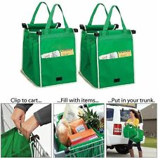 As Seen On TV Grab Bag 1 Pack Clip-To-Cart Reusable Grocery Shopping Bags