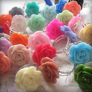 20mm-Carved-Flower-Rose-Ring-Retro-Kitsch-Vintage-Cute-Emo-Adjustable-Black-Chic