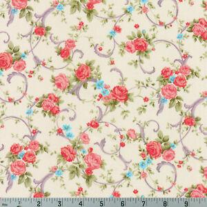 Shabby-Rose-Cream-Cassandra-Robert-Kaufman-Cotton-Quilting-Fabric