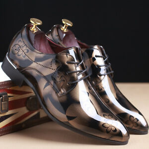 Men-039-s-Business-Formal-Dress-Oxfords-Leather-Shoes-Casual-Wedding-Pointed-Toe