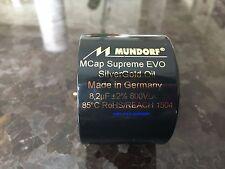 "0.1 uf 1000VDC MUNDORF M-CAP® ""EVO SUPREME Silver Gold"" SG Capacitor"