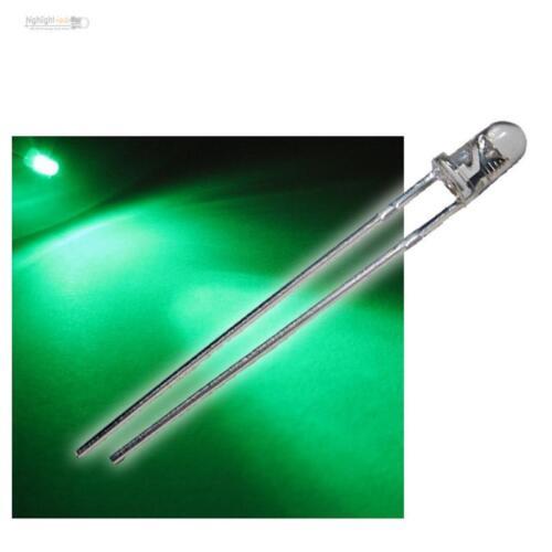 Led Verde Green Vert Groen VERDE 50 LED 3mm VERDE ACQUA CHIARO wtn-3-11000gr