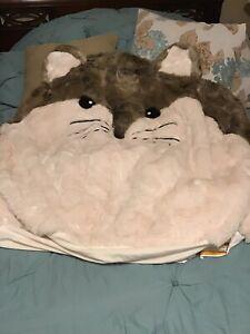 Pottery Barn PB Teen Fox-Faux Fur Critter Bean Bag Chair ...