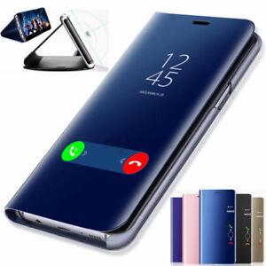 Clear-Mirror-View-flip-etui-en-Cuir-pour-Samsung-Galaxy-J7-J5-J3-Pro-Prime