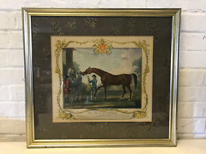 Antique-18th-Cent-Richard-Houston-Engraving-Horse-Print-Portraiture-of-Babraham