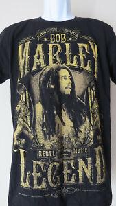 Vtg-BOB-MARLEY-LEGEND-Black-Tee-t-shirt-Rebel-Kingston-Jamaican-Rebel-Music-S