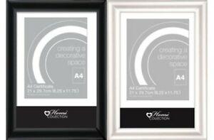 A4-Certificat-Cadre-Photo-Transparent-Styrene-devant-Mural-Clip-Support-Bureau