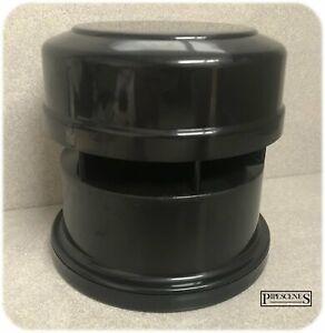 "4"" Anti-Syphon Air Admittance Valve BLACK Soil & Vent External / Outside 110mm"